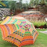 Rajasthani Sun Cotton Banjara Mirror Work Fashion Umbrellas