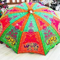 Handmade Rajasthani Sun Umbrellas Cotton Banjara Work Fashion Umbrella