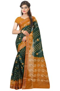 Fancy Designer Cotton Bandhani Saree