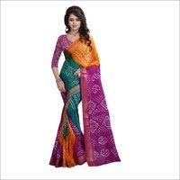 Fancy Bandhani Printed Saree