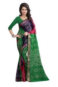 Fancy Designer Bandhani Printed Saree