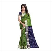 Pure Bandhani Print saree