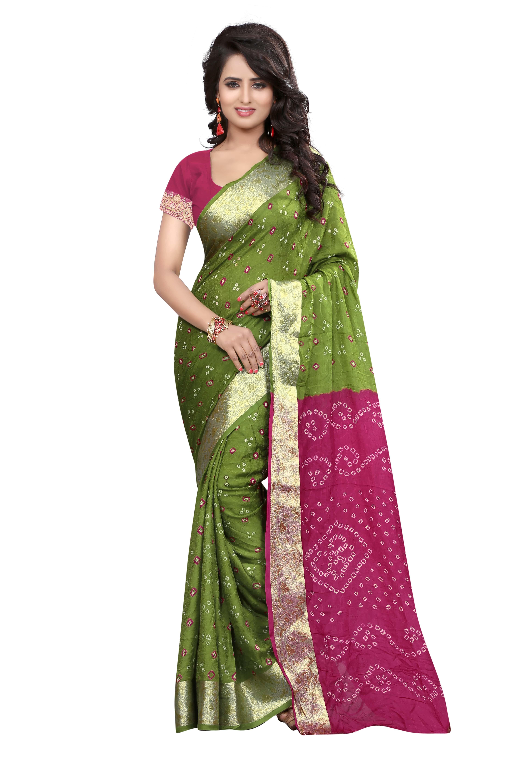 Bandhani Print Cotton saree