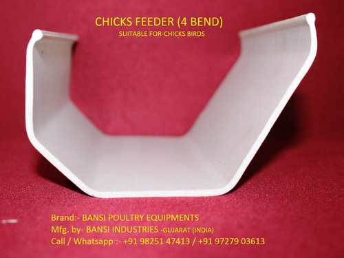 CHICKS FEEDER 4 BEND (cage farming)