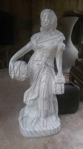 White Wedding Pari Fiber Statue