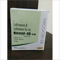CEFTRIAXONE SULBACTUM 4.5GM INJ NICOCEF-SB