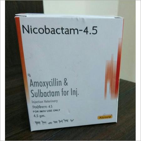 AMOXY SULBACTUM DRY INJ NICOBACTUM 4.5GM