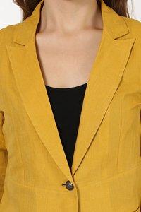 Mustard Linen Blazer