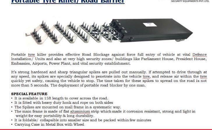 Portable Tyre Killer