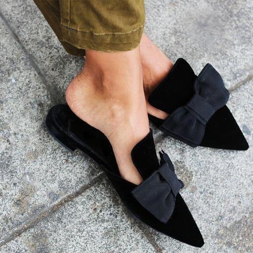 Ladies Mule Flat Shoes