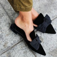 Ladies Mule Flat Shoes