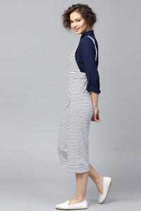 Navy & White Stripes Dungaree