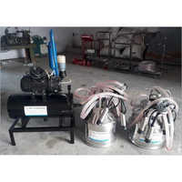 Double Bucket Fix Type Milking Machine