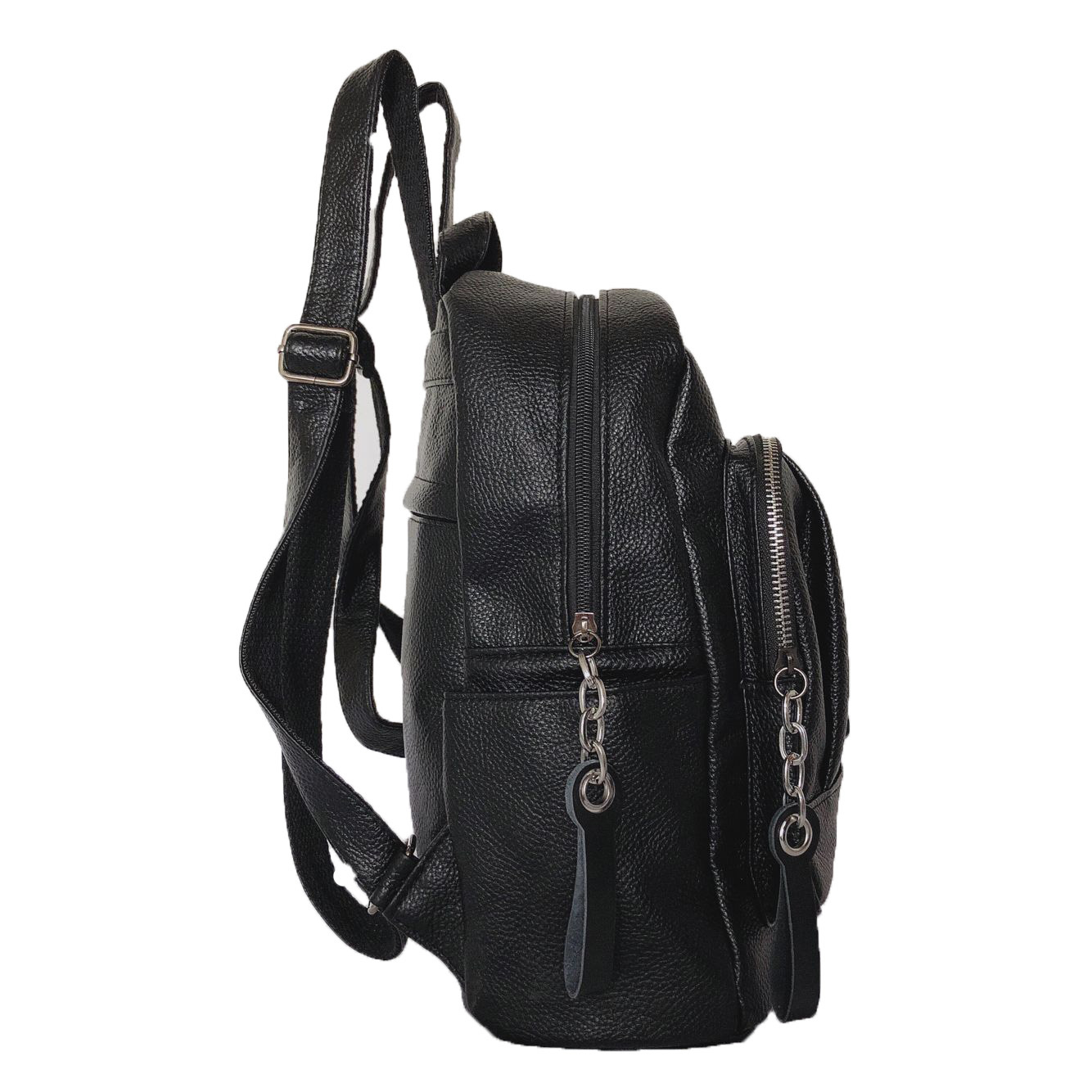 Leather Plain Backpack