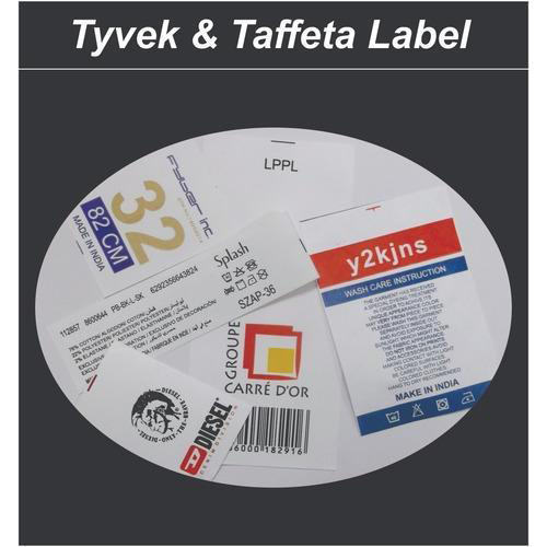 Tyvek And Taffeta Labels