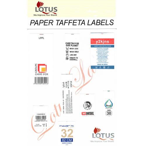 Taffeta Paper Labels