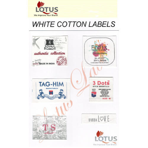 White Cotton Labels