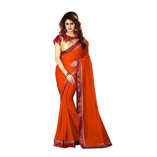 New Women wear Chiffon Saree