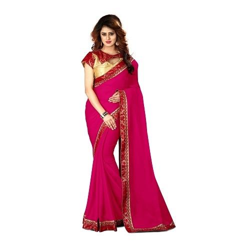 Chiffon Saree with Lace