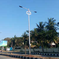 Double Arm Street Lighting Pole
