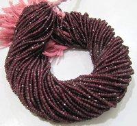 Natural Rhodolite Garnet 3mm Rondelle Faceted Beads