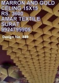 Ceiling tent fabric