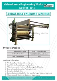 Five Bowl Calendering Machine