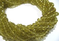 SALE Lemon Hydro Quartz Rondelle Faceted 6mm Beads
