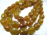 SALE AAA Quality Natural Yellow Sapphire Oval Shape 8 to 10mm Beads