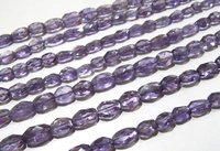 SALE Purple Amethyst Oval Faceted Beads Size 8mm to 10mm  Beads