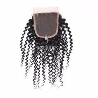 Temple Hair Lace Closures Deep Curly