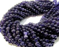 SALE Natural Amethyst Round 6mm Beads Ball Shape Plain  beads