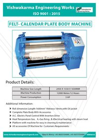 Fabric Calendar Machine