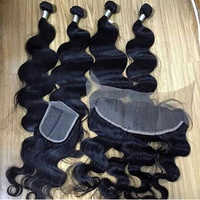 Weft Closure Frontal Human Hair