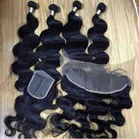 Weft Closure Frontal Human Hair