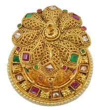 Gold Plated Sindoor Dabbi