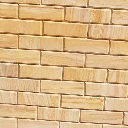 4x12 Inch Teak Wood Sandstone Brick Tile