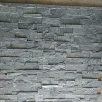 Silver Grey Wall Cladding Slate Stone Tile