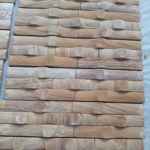 Teak Wood Bamboo Wall Cladding Stone Tile