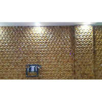 Teak Wood CNC Wall Cladding Sand Stone