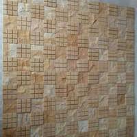 Teak Wood Mosaics Sand Stone