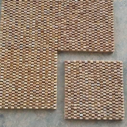 Teak Wood Wall Cladding Sand Stone