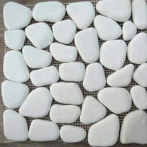 Marble White Pebble Floor Tiles