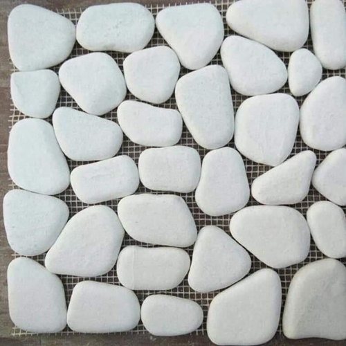 Marble White Pebble Floor Tiles