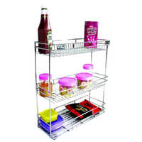 Stainless Steel 3 Shelf Bottle Pullout