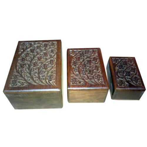 Designer Wooden Urns