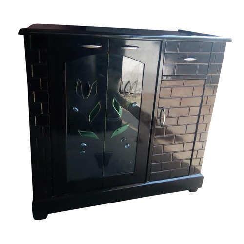 Wooden Sideboard Cabinet Glass