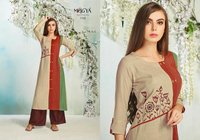 Rayon With Embroidery Kurtis