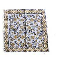 Indian Cotton Fabric Custom Colorful Design Block Print Decorative Cotton Dinner Table Cloth Mat