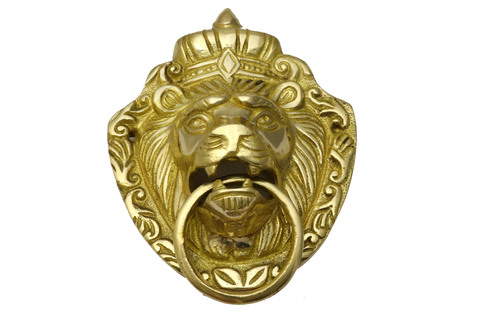 Bass Lion Design Door Knocker  & Vehicle Emblem. Home & Bike Decoration.